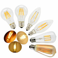 Vintage Dimmable E12 E14 E27 2W 4W 6W 8W LED Filament Light Candle Globe Bulb