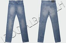 GIVENCHY 920$ Authentic New Whiskered & Destroyed Blue Cotton Denim Jeans