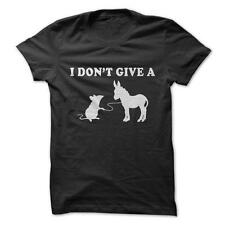 I Don't Give A Rats Ass - Funny T-Shirt Short Sleeve 100% Cotton NEW