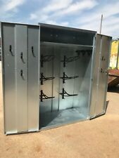 Ani-Mate 6 Saddle Storage Tack Locker Galvanised Vermin Proof Fully Assembled
