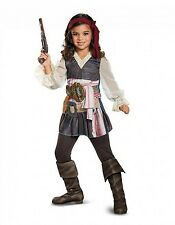 Disney Captain Jack Sparrow Pirates of the Caribbean Girl Classic Child Costume