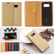 Luxury Slim Magnetic Flip Stand Leather Wallet Card Phone Case Cover For Samsung