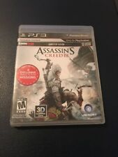 PlayStation 3 Assassins Creed III - Complete - Case, Manual Game