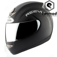 Reevu RV MSX1 Rear View Vision Full Face Motorcycle Motorbike Helmet -Matt Black