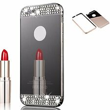 New Bumper Bling Luxury Slim Back Mirror Case Cover for Apple_Iphone Samsung
