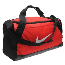 Nike Brasilia Small Grip Sports Holdall Red Gym Kit Bag Carryall