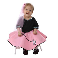 Toddler 50's Pink Poodle Skirt Halloween Set Costume