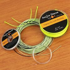 5/6/7/8/9WT 100FT Fly Fishing Line with Sink Tip Backing Line Leader Tippet Loop