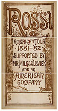 Photo Print Vintage Poster: Stage Theatre Flyer Rossi 02