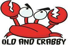 Old and Crabby Funny Crab Fathers Day Gift Present Summer Beach Holiday T Shirt