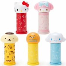 JAPAN SANRIO GUDETAMA MELODY TRAVEL COTTON SWAB WITH HEAD SHAPE CONTAINER BOX