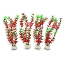 4pcs Plastic Aquarium Plants Fish Tank Water Plant Decoration Ornament