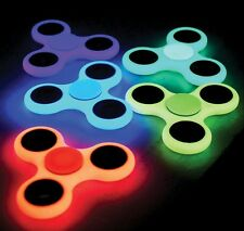 Glow in the dark Fidget spinner Tri hand spinner strong ABS Bearing ADHD Toy