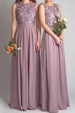 Scoop Lace Simple Long Bridesmaid Dresses 2015 Floor Length Chiffon Cheap