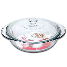 Anchor Hocking Large Round Glass Ovenware Casserole Dish With Lid -  2 Litre