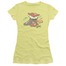 ROLLING TONGUE Candy Logo Licensed Juniors Cap Sleeve T-Shirt