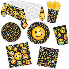 LOL Smiley Emoji Icon Children's Birthday Party Supplies Plates Napkins Listing