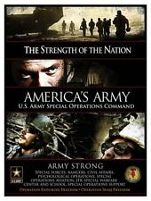 Green Berets Rangers USASOC Operation Enduring & Iraqi Freedom Poster