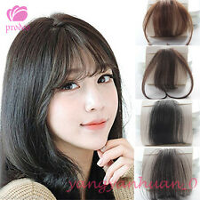 Women Clip In Thin Air Front Hair Bang Fringe Remy Crochet Human Hair Extensions