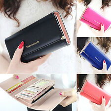 Women's Rivet Heart PU Leather Clutch Long Purse Card Coin Wallet Handbag Bag