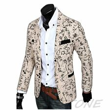 New Stylish Men's Casual Slim Fit One Button Suit Blazer Coat Jacket Outwear -