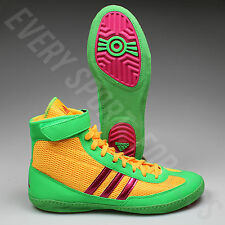 Adidas Combat Speed 4 Wrestling Shoes AQ3059 - Gold/Pink/Lime (NEW) Lists @ $83