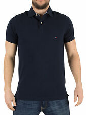 Tommy Hilfiger Men's Jacquard Slim Fit Logo Polo Shirt, Blue