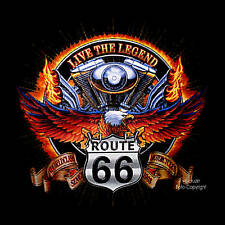 Custom Bike Chopper American Biker T-Shirt Route 66 Eagle 4200