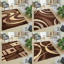 New Soft Shaggy THICK 5CM  Modern Rugs For Living Room Bedroom Mosaic Brown
