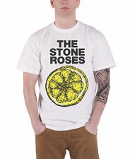 The Stone Roses T Shirt Lemon 1989 Tour new Official Mens White