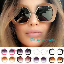 Fashion Celebrity Sunglasses Shades Large Oversized Half Frame Sun Glasses UV400