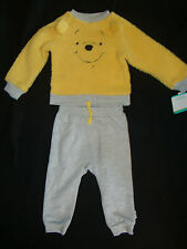 DISNEY WINNIE THE POOH 2 pc SHERPA  shirt & matching PANTS NWTS