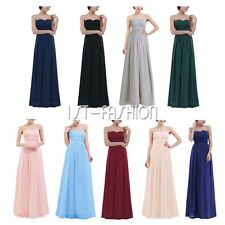 Women Long Maxi Dress Party Cocktail Evening Bridesmaid Ball Gown Chiffon Dress