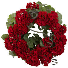 17in Geranium Wreath
