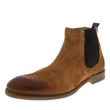 Mens H By Hudson Entwhistle Suede Tan Smart Office Work Chelsea Boots UK 6-12