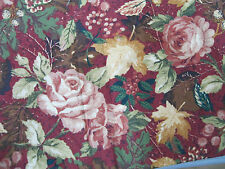 autumn garden 90cm or grapevine on red 1m country paths patchwork quilt fabric