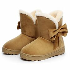 Hot Sale 2016 Winner Woman Boots New Fashion Thicken Bowtie Snow Boots Round Toe