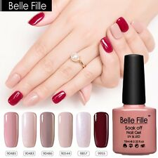 BELLE FILLE Colorful Gel Polish Nail Art Bling Glitter UV Varnish Soak Off 10ml