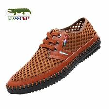 New 2016 Summer Genuine Leather Breathable Mesh Men Casual Shoes Fashion