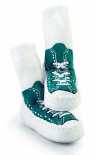 Turquoise Mocc Ons Baby Toddler Slipper Shoe Socks Indoor Clothing Accessory