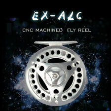 Fly Fishing Reel 3/4 5/6 7/8WT CNC Machined Aluminum Large Arbor Silver Fly Reel