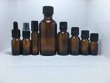 5ml - 4oz Amber Round Glass Bottle for Essential Oils Aromatherapy