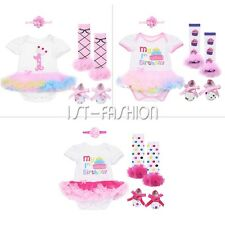Newborn Infant Baby Girls My 1St Birthday Outfit Romper Jumpsuit Bodysuit+Shoes