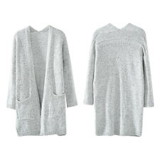 Autumn Winter Fashion Women Long Sleeve Loose Sweater Knitted Cardigan HY