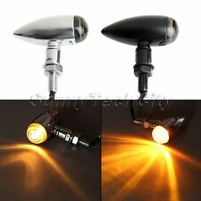 1 Pair Motorcycle Bullet Indicators Turn Signal Light For Yamaha YZ100 1981 1980