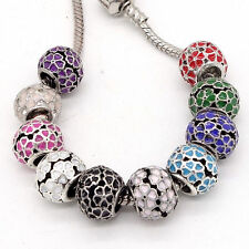 Fashion 3pcs Silver European Charm Beads Fit Necklace Bracelet jewelry SD105
