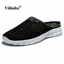 Viihahn Men's Slippers Casual Shoes Flat Sandals Breathable Mesh Shoes Beach