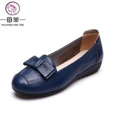 Women Flats Genuine Leather Flat Shoes Woman Casual Work Mother Shoes Plus