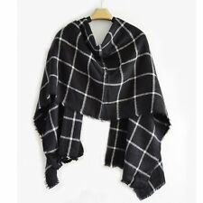 Winter Fashion Plaid Cashmere Scarf Women Oversized Blanket Scarf Wrap Long Wool
