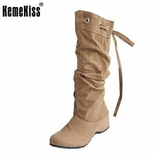 women flat over knee boots ladies riding fashion long snow boot warm winter